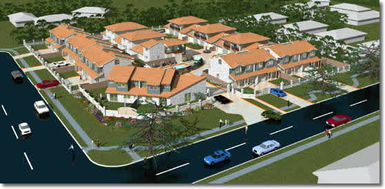 Townhouse development at Raby Bay, Queensland